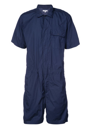 Engineered Garments short fitted jumpsuit - Blue