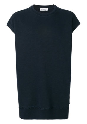 Jil Sander cap sleeve top - Blue