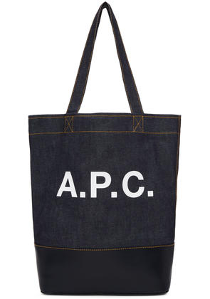 A.p.c. Navy Denim Axel Tote