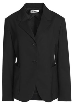 Jil Sander Woman Paneled Virgin Wool-blend Blazer Black Size 38