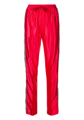 Gucci sequins embellished loose trousers - Red