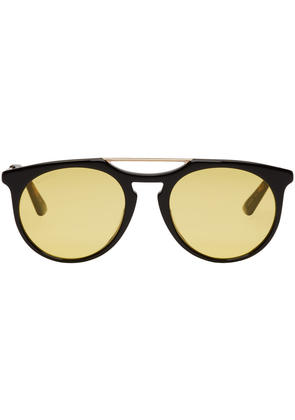 Gucci Black and Yellow Aviator Sunglasses
