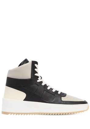 BBALL HIGH TOP NUBUCK LEATHER SNEAKERS