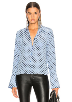 Equipment Huntley Blouse in Blue,Geometric Print