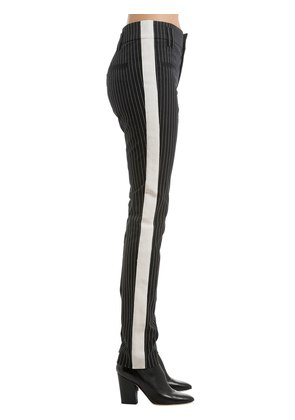 SKINNY PINSTRIPED PANTS W/ SIDE BANDS