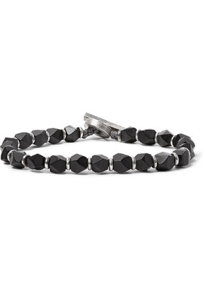 M.Cohen - Onyx And Sterling Silver Bracelet - Black