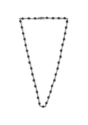Blackened Sterling Silver Onyx Necklace