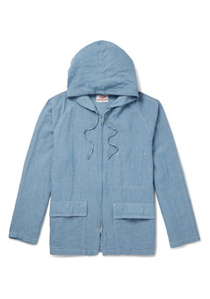 Beach Cotton And Linen-blend Chambray Hooded Parka