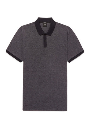 Parley Mélange Textured-cotton Polo Shirt