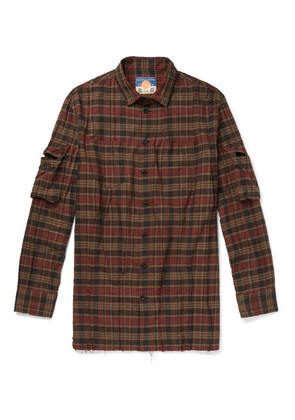 Distressed Checked Cotton Shirt