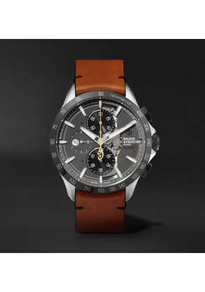 Clifton Club Indian Legend Tribute Scout Chronograph 44mm Stainless Steel And Leather Watch