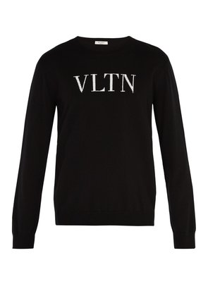 Logo-intarsia wool and cashmere-blend sweater