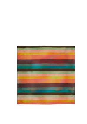 Artist Stripe silk pocket square