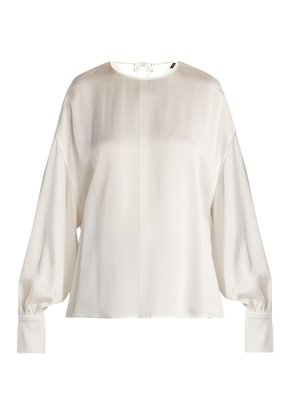 Knox crepe satin blouse