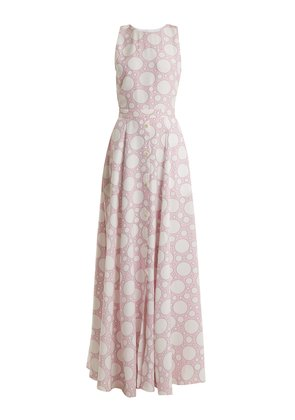 Lola polka-dot print crepe de Chine dress
