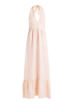 Farrah halterneck linen dress