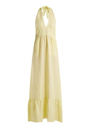 Farrah linen hatlerneck dress