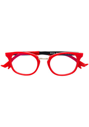 Face À Face round shaped glasses - Red