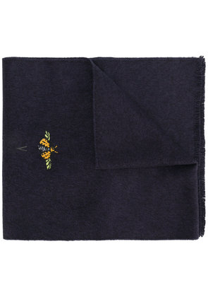 Gucci bug patch scarf - Blue