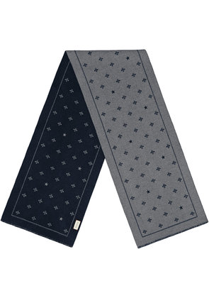 Gucci Wool scarf with bees and stars - Grey
