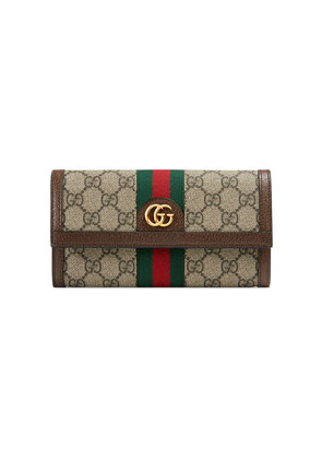 Gucci Ophidia GG continental wallet - Nude & Neutrals