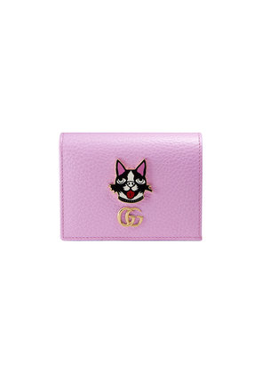 Gucci Leather card case with Bosco - Pink & Purple