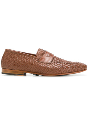 Andrea Ventura woven loafers - Brown