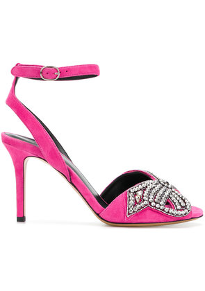 Outlet Sale Outlet Latest embellished bow sandals - Pink & Purple Isabel Marant Low Shipping Cheap Price Limited VpL56w