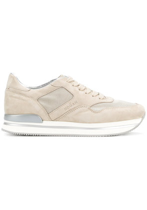 Hogan lace up sneakers - Nude & Neutrals