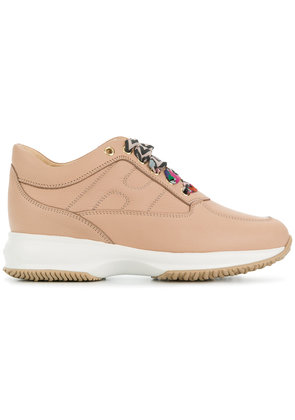 Hogan printed lace-up sneakers - Nude & Neutrals