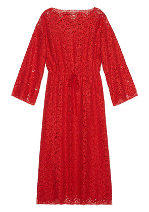 Gucci Flower lace kaftan - Red