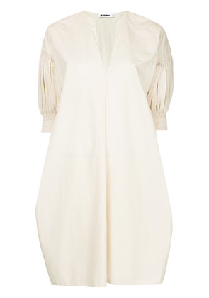 Jil Sander v-neck dress - Nude & Neutrals