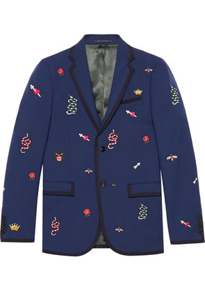 Gucci Monaco embroidered jacket - Blue