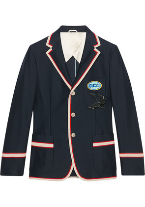 Gucci Cotton jacket with Gucci pool patch - Blue