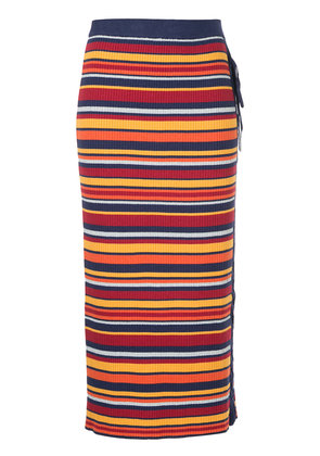 Hysteric Glamour striped lace-up knitted skirt - Multicolour