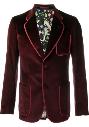 Gucci velvet blazer - Red