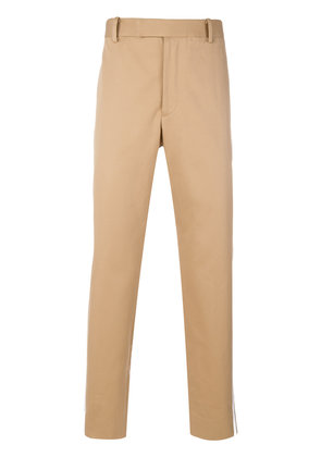 Gucci contrast side stripe chinos - Nude & Neutrals