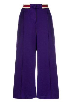 Gucci branded waistband wide-leg trousers - Pink & Purple