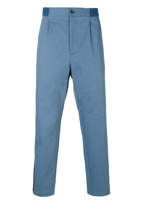 Gucci Web cropped trousers - Blue