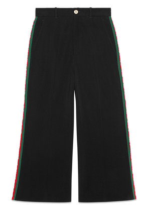 Gucci Viscose culotte pant with Web - Black