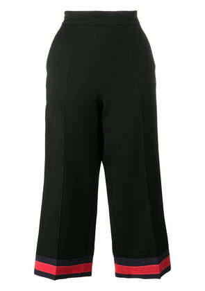 Gucci pajama pant with web detail - Black