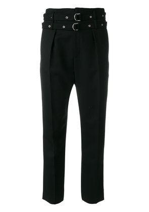Iro buckled cropped trousers - Black