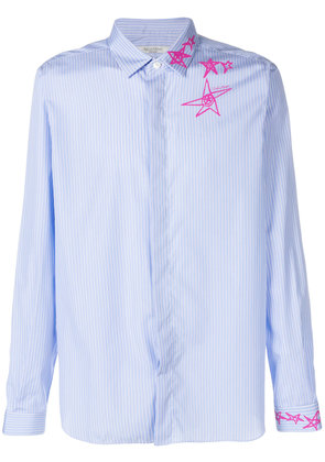 Valentino Lunar Star striped shirt - Blue