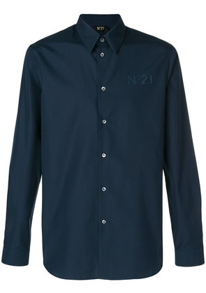 No21 long sleeve branded shirt - Blue