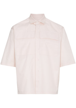 Jil Sander Pale Pink Chest Pocket Shirt - Pink & Purple