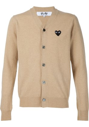 Comme Des Garçons Play embroidered heart cardigan - Nude & Neutrals