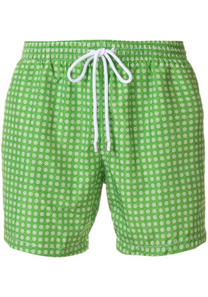 Barba printed swim shorts - Green