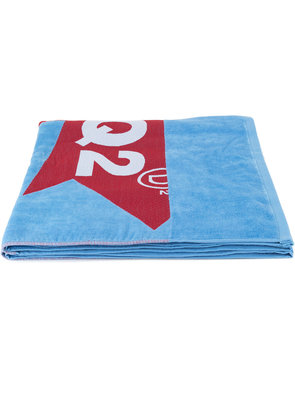 Dsquared2 logo printed beach towel - Blue