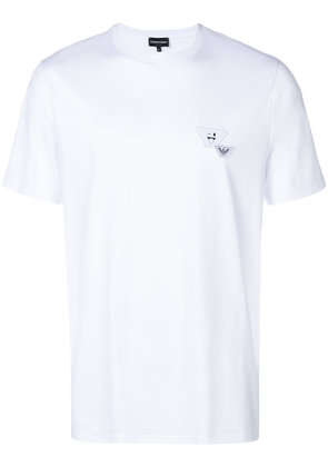 Emporio Armani logo patch T-shirt - White