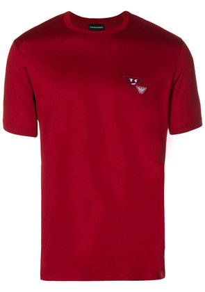 Emporio Armani logo patch T-shirt - Red